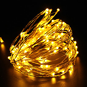 cheap LED String Lights-10m String Lights 100 LEDs 100-240V Christmas Festival New year Gift Lamp Wedding