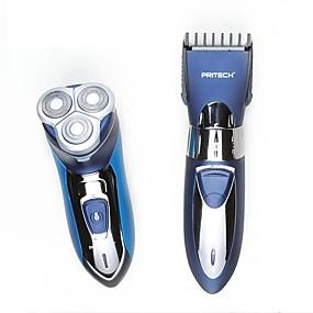 povoljno Brijanje i uklanjanje dlačica-Manualno Električni Brijanje oprema Rotirajući brijači Vodootporno Ergonomski dizajn LED svjetlo Quick Charging Low Noise Maziva dozator