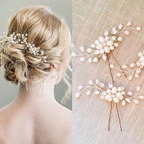 povoljno Dodaci za kosu-Biseri / Kristal Kose za kosu / Kosa za kosu s 1 Vjenčanje / Special Occasion Glava
