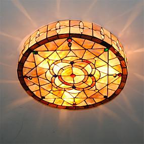 abordables Lampe Tiffany-3 lumières Montage du flux Lumière d'ambiance Autres Métal Coquille Style mini 110-120V / 220-240V Ampoule non incluse / E26 / E27