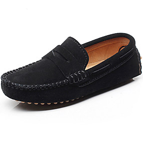 cheap Kids' Shoes-Boys' Shoes Leather Spring / Summer Light Soles Loafers & Slip-Ons for Gray / Brown / Royal Blue / Rubber