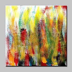 halpa Abstraktit maalaukset-Hang-Painted öljymaalaus Maalattu - Abstrakti Moderni Kehyksellä