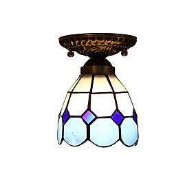 billige Tiffany Lamper-Takplafond Nedlys - LED designere, Tiffany, 110-120V 220-240V, Gul, Pære ikke Inkludert