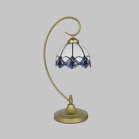 billige Tiffany Lamper-Flerskjerms / Bue Tiffany / Rustikk / Hytte / Original Bordlampe Metall Vegglampe 110-120V / 220-240V 25W