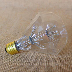 billige Globepærer med LED-3W E26/E27 LED-globepærer G95 49 DIP-LED 800 lm Gul Dekorativ V 1 stk.