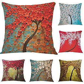 cheap Clearance-6 pcs Velvet Pillow Case, Graphic Prints Accent / Decorative