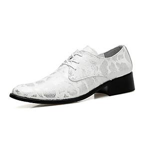 povoljno Muške dizajnerske oksfordice-Muškarci Formalne cipele Mikrovlakana Proljeće / Jesen Ležerne prilike / Udobne cipele Oksfordice Hodanje Otporno na klizanje Zlato / Crn / Pink / Vjenčanje / Zabava i večer / Kožne cipele
