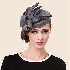 cheap Del Mar Hats-Wool Rhinestone Alloy Hats Headpiece Classical Feminine Style