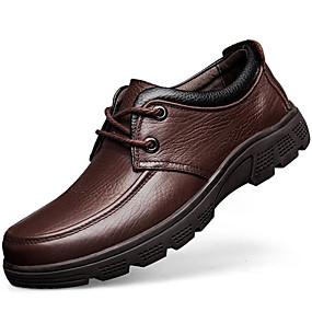 halpa Miesten Oxford-kengät-Miesten Nappanahka Syksy / Talvi Comfort Oxford-kengät Musta / Kahvi / Juhlat