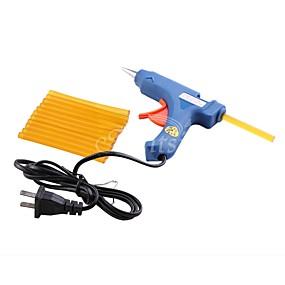 abordables Outils & Accessoires-Accessoires pour Extensions Pellets de colle 1Pcs US Plug Glue Gun + 12Pcs Glue Sticks Quotidien Classique Marron Jaune Noir