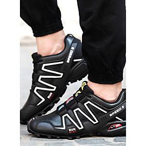 cheap Men's Sneakers-Men's Tulle Spring / Fall Comfort Sneakers Walking Shoes Black / Gray / Blue