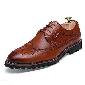 Pánské Bullock Shoes Kůže Jaro   Podzim Oxfordské Černá   Hnědá   Červená    Svatební   Party   Kožené boty 73c22f474e