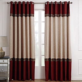 cheap Sale-Custom Made Room Darkening Curtains Drapes Two Panels For Living Room