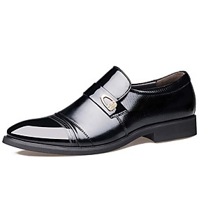 baratos Oxfords Masculinos-Homens Sapatos formais Couro Primavera / Outono Negócio Oxfords Prova-de-Água Preto / Marron / Festas & Noite / Tachas / Festas & Noite / Ao ar livre / Sapatos de couro