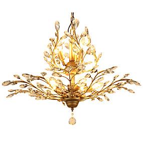 billige Rabatt på frakt-LightMyself™ 8-Light Krystall Anheng Lys Omgivelseslys Antikk Messing Metall Krystall, LED 110-120V / 220-240V Pære ikke Inkludert / E12 / E14