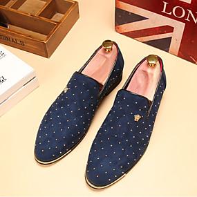 voordelige Wijdere maten schoenen-Heren Comfort schoenen Leer Lente / Herfst Brits Loafers & Slip-Ons Wandelen Zwart / Blauw / Bruiloft / Feesten & Uitgaan / Bruiloft / Feesten & Uitgaan / EU40