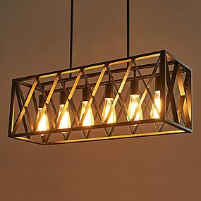 billige Taklamper-6-Light Takplafond Nedlys Malte Finishes Metall designere 110-120V / 220-240V Pære ikke Inkludert / E26 / E27