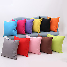 cheap $5.99-1 pcs Cotton Pillow Case, Solid Colored Modern Contemporary Traditional / Classic