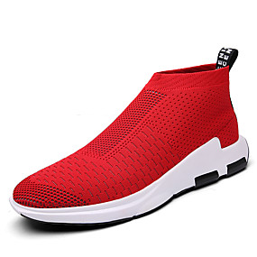 cheap Men's Shoes-Men's Comfort Shoes Tulle Spring / Fall Casual Sneakers Black / Gray / Red / Athletic / Outdoor / EU40