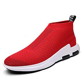 baratos Sapatos Esportivos Masculinos-Homens Sapatos Confortáveis Tule Primavera / Outono Casual Tênis Preto / Vermelho / Cinzento / Atlético / Ao ar livre / EU40