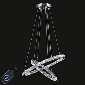 billige Hengelamper-Sirkelformet Anheng Lys Omgivelseslys galvanisert Metall Krystall, Mulighet for demping, LED 110-120V / 220-240V LED lyskilde inkludert / Integrert LED