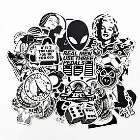 preiswerte Car Stickers-Ziqiao 100 stücke schwarz und weiß cool diy aufkleber für auto skateboard laptop gepäck snowboard kühlschrank handy spielzeug styling wohnkultur aufkleber