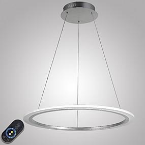 billige Hengelamper-Sirkelformet Anheng Lys Omgivelseslys galvanisert Metall Akryl Mulighet for demping, LED, Dimbar med fjernkontroll 110-120V / 220-240V LED lyskilde inkludert / Integrert LED