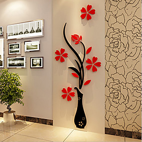 cheap Wall Stickers-Christmas Romance Florals Wall Stickers 3D Wall Stickers Decorative Wall Stickers,Vinyl Material Home Decoration Wall Decal