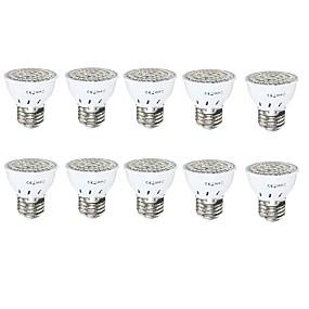 billige LED Økende Lamper-3 W LED-drivhuslamper 230-330 lm GU10 GU5.3(MR16) E27 MR16 72 LED perler SMD 2835 Rød Blå 220 V 110 V / 10 stk. / RoHs