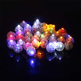 cheap Holiday Party Decorations-50Pcs/Set Round Led Rgb Flash Ball Lamps Balloon Lights For Lantern Christmas Wedding Party Decoration