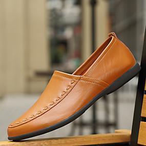 voordelige Wijdere maten schoenen-Heren Comfort Loafers PU Lente / Herfst Loafers & Slip-Ons Zwart / Wit / Geel / EU40