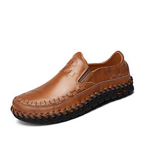 baratos Sapatilhas e Mocassins Masculinos-Homens Loafers de conforto Pele Napa Primavera / Verão / Outono Mocassins e Slip-Ons Caminhada Preto / Marron / Combinação