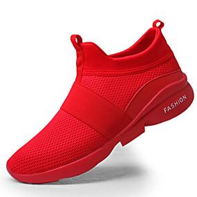 baratos Tênis Masculino-Homens Sapatos Confortáveis Borracha Primavera / Outono Tênis Branco / Vermelho / Cinzento / Ao ar livre / EU40