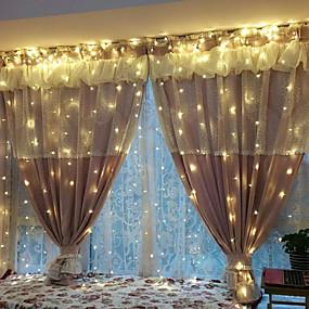 voordelige Opruiming-3M Verlichtingsslingers 240 LEDs EL Warm wit / Wit Feest / Bruiloft / Kerst Bruiloft Decoratie 220-240 V / 110-120 V 1 set / IP44