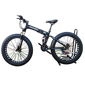 cheap Weekly Clearance Sale-Folding Bike / Snow Bike Cycling 21 Speed 26 Inch / 700CC 40 mm SHIMANO 51-7 Double Disc Brake Springer Fork Rear Suspension Ordinary / Standard Aluminium Alloy