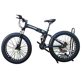 povoljno Rasprodaja-Folding bicikle / Sniježni bicikl Biciklizam 21 Brzina 26 inča / 700CC 40 mm SHIMANO 51-7 Dvostruka disk kočnica Vilica s oprugom Stražnja suspenzija Običan Aluminijska legura