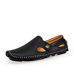 povoljno Muške sandale-Muškarci Osvjetljenje Mikrovlakana Proljeće / Ljeto Udobne cipele Sandale Hodanje Obala / Crn / Plava