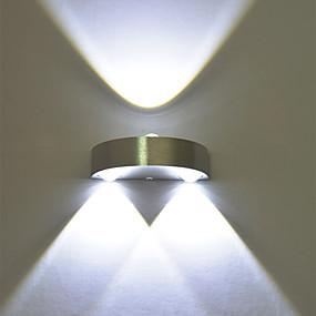 ราคาถูก เชิงเทียนติดผนัง-3W นำผนัง sconce ภายในห้องโถงขึ้นลงไฟส่องสว่างจุดอลูมิเนียม
