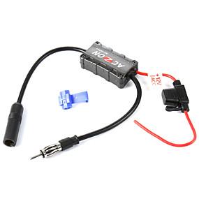 Недорогие Аудио для авто-автомобили автомобиль FM-радио антенна усилитель усилитель сигнала для обоих я и FM-радиостанций.