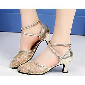 928906ba1ff89 نسائي أحذية عصرية دانتيل مسطح   كعب أحذية الرقص ذهبي   أسود   فضي   تمرين