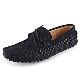 baratos Sapatos Náuticos Masculinos-Homens Sapatos de couro Pele Primavera / Verão Sapatos de Barco Preto / Azul Escuro