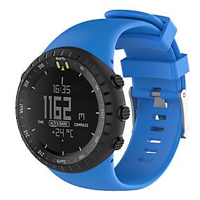 hesapli Smartwatch Bantları-Watch Band için SUUNTO CORE Suunto Spor Bantları Kauçuk Bilek Askısı