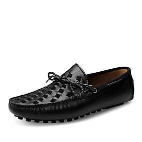 baratos Sapatos Náuticos Masculinos-Homens Sapatos Confortáveis Pele Verão / Outono Mocassins e Slip-Ons Caminhada Preto / Castanho Escuro / Amarelo / Combinação
