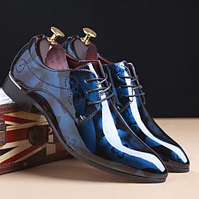 baratos Oxfords Masculinos-Homens Sapatos formais TPU Primavera / Outono Oxfords Vermelho / Azul / Marron / Casamento / Impressão Oxfords / EU40