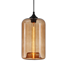 abordables Candelabros-Cilindro Lámparas Araña / Lámparas Colgantes Luz Downlight Vidrio 110-120V / 220-240V Bombilla no incluida / E26 / E27