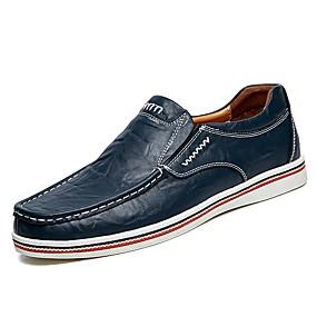 baratos Sapatilhas e Mocassins Masculinos-Homens Loafers de conforto Pele Verão / Outono Mocassins e Slip-Ons Preto / Marron / Azul Escuro / Combinação / EU40