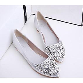 billige Flate sko til damer-Dame Flate sko Lær / PU Komfort Vår / Sommer Gull / Sølv / Rosa / EU39