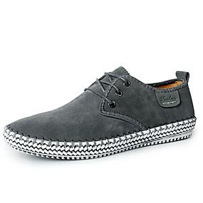 baratos Tênis Masculino-Homens Sapatos Confortáveis Camurça Verão / Outono Tênis Caminhada Preto / Cinzento Escuro / Azul Escuro / Combinação