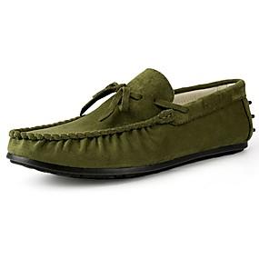 baratos Sapatos Náuticos Masculinos-Homens Sapatos de Condução Camurça Primavera / Outono Mocassins e Slip-Ons Marron / Verde / Azul / Laço