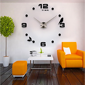 cheap DIY Wall Clocks-Wall Clock,Casual Modern Contemporary Office / Business Stainless Steel EVA Indoor / Outdoor Indoor